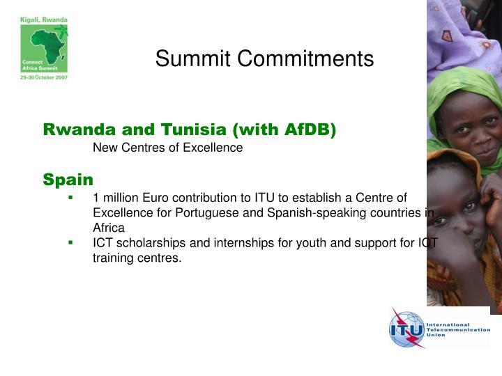 Summit Commitments
