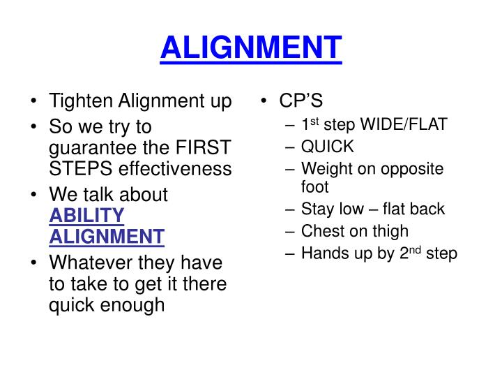 Tighten Alignment up