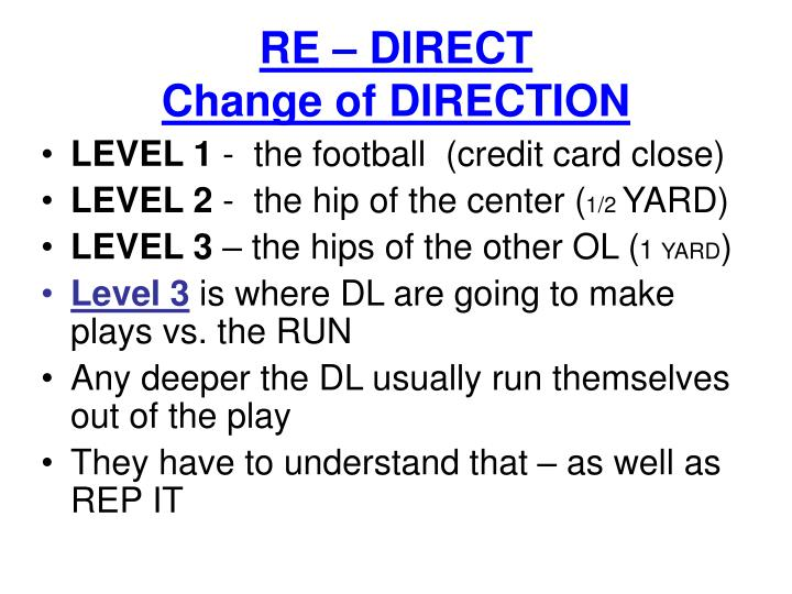 RE – DIRECT