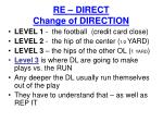 re direct change of direction