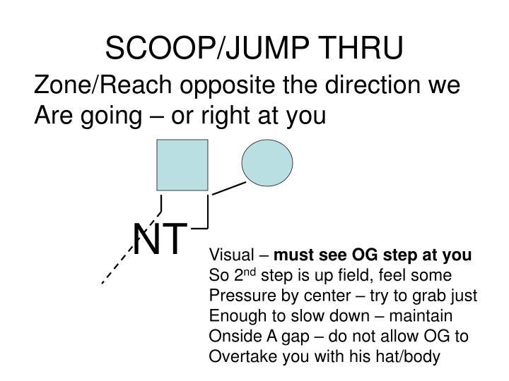 SCOOP/JUMP THRU