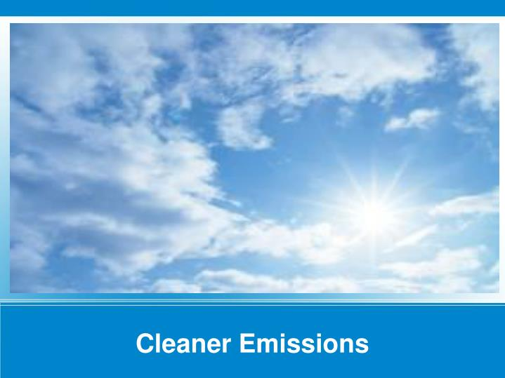 Cleaner Emissions