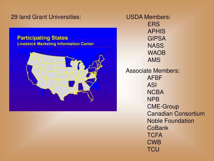 29 land Grant Universities: