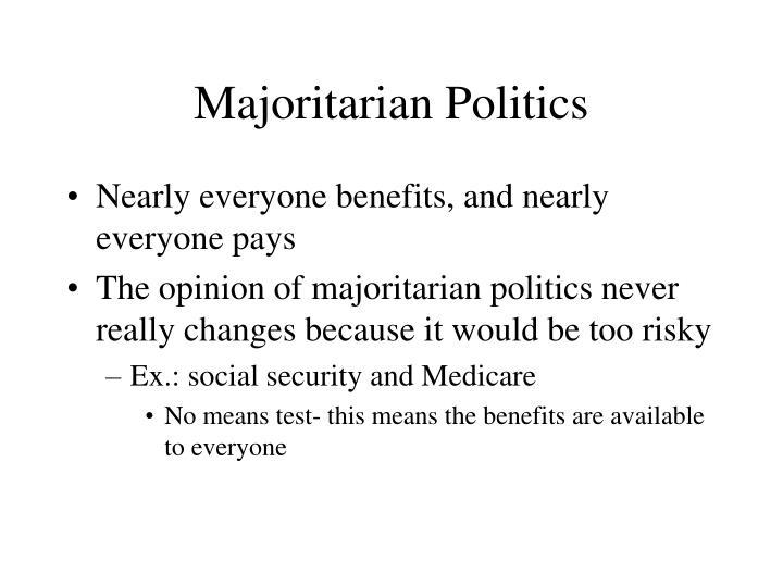 Majoritarian Politics