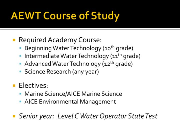 AEWT Course of Study