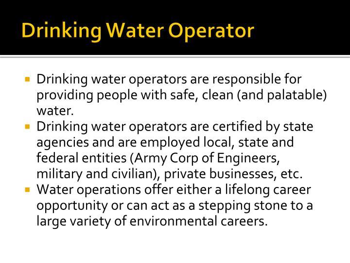 Drinking Water Operator
