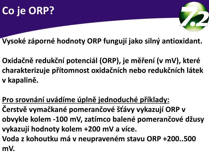 Co je ORP?
