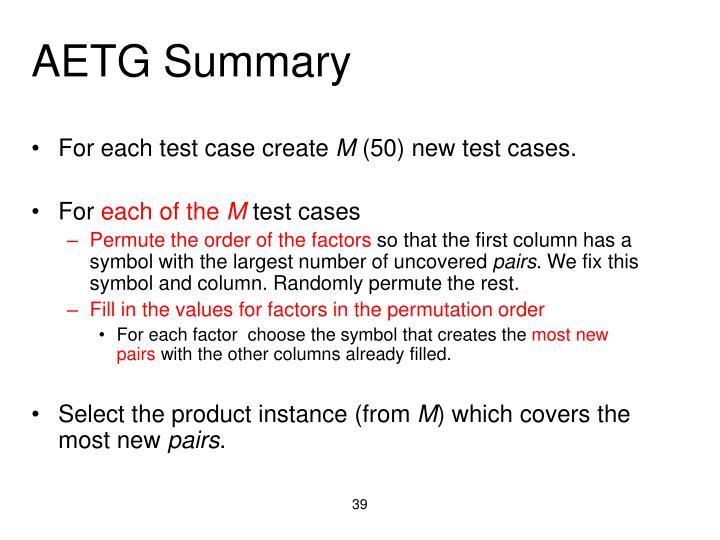 AETG Summary