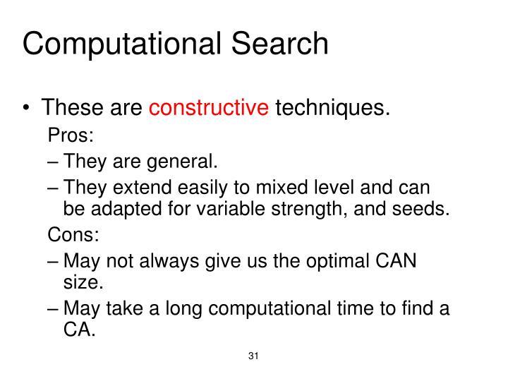 Computational Search