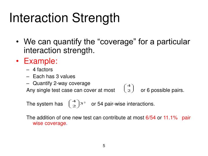 Interaction Strength