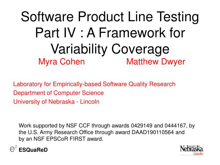 Software Product Line Testing