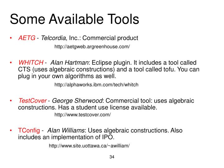 Some Available Tools