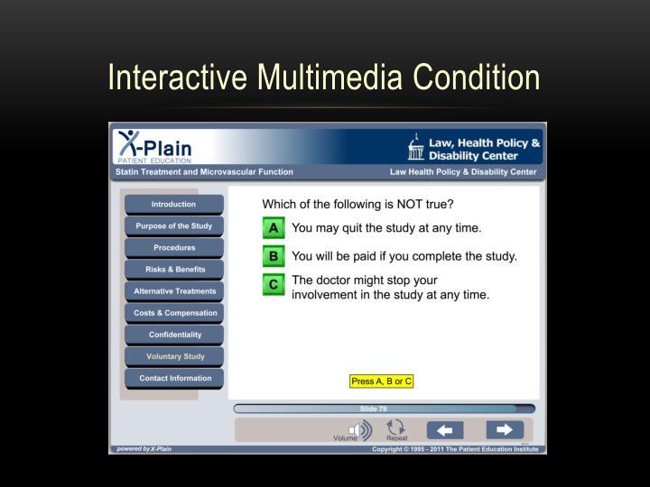 Interactive Multimedia Condition