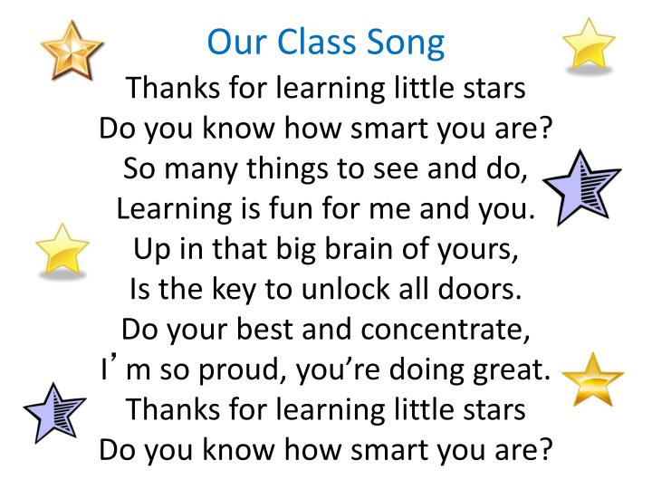 Our Class Song