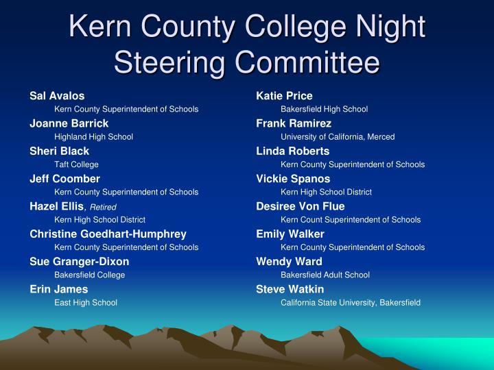 Kern County College Night Steering Committee