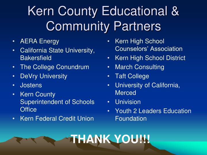 Kern County Educational & Community Partners