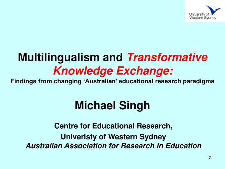 Multilingualism and