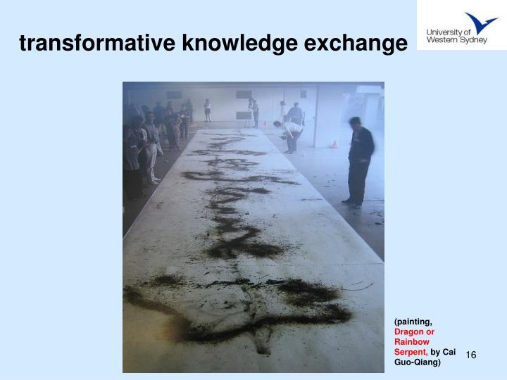 transformative knowledge exchange
