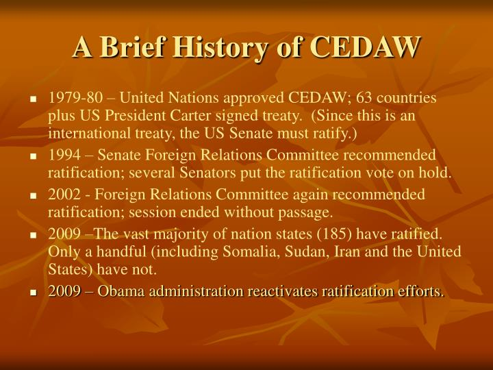 A Brief History of CEDAW