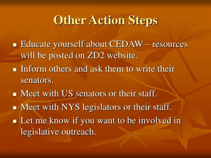 Other Action Steps