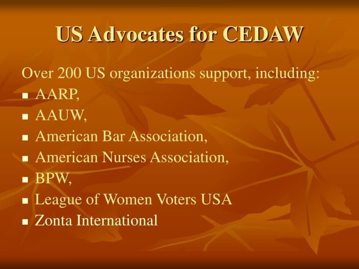 US Advocates for CEDAW