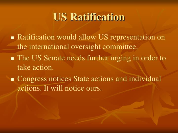 US Ratification