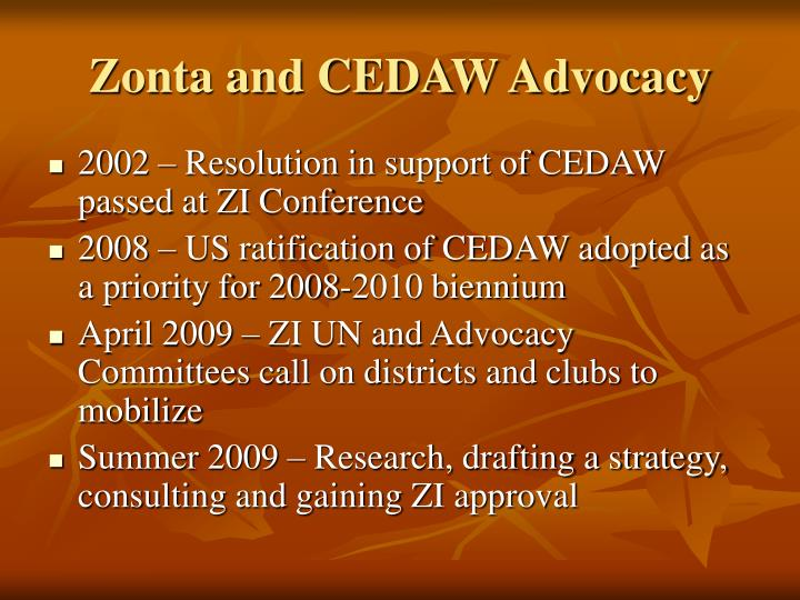 Zonta and CEDAW Advocacy