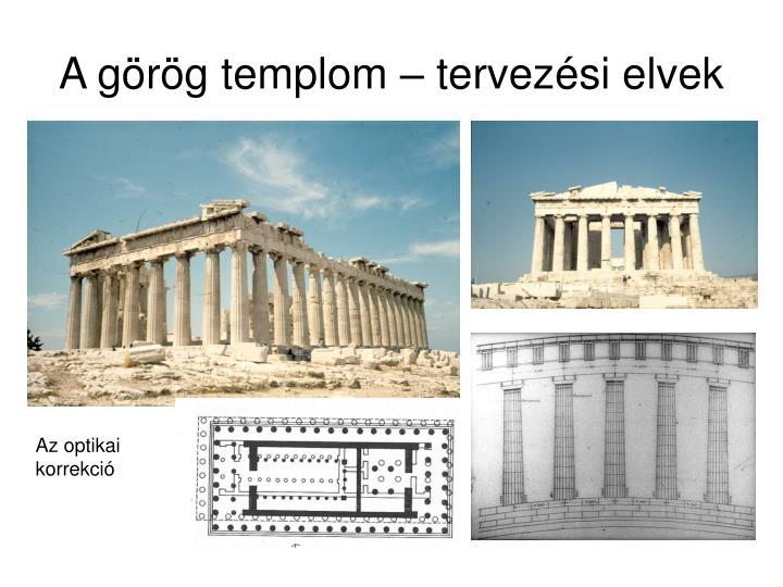 A görög templom – tervezési elvek