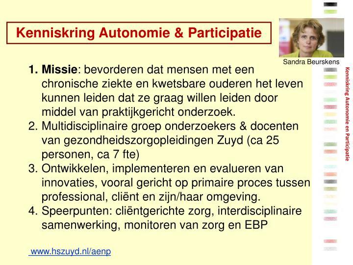 Kenniskring Autonomie & Participatie