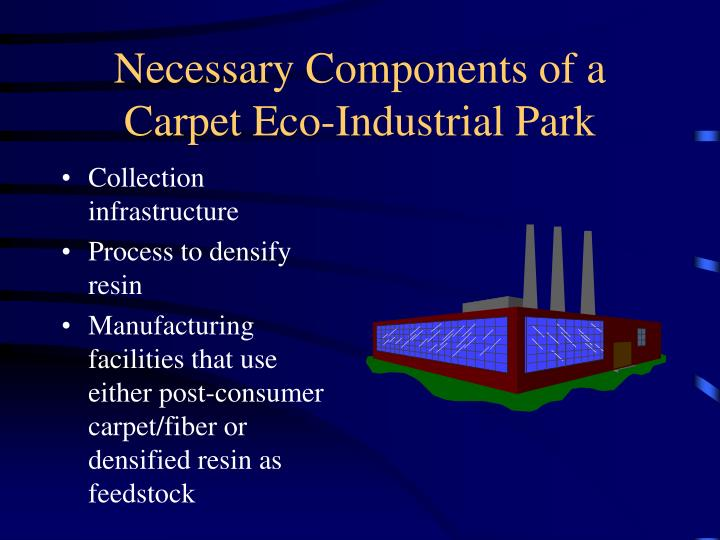 Necessary components of a carpet eco industrial park