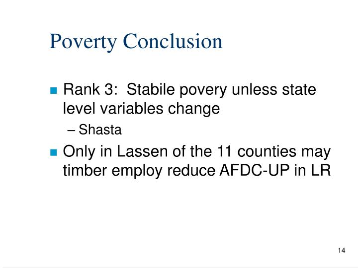 Poverty Conclusion