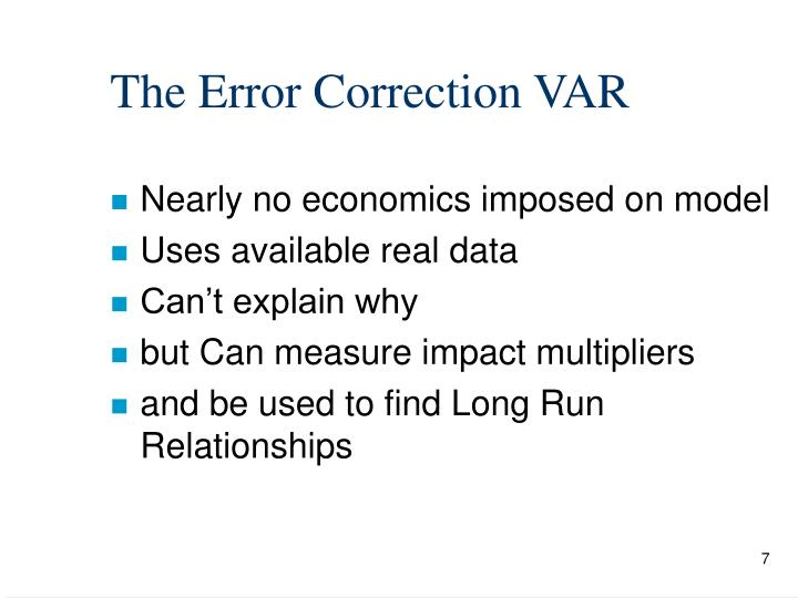 The Error Correction VAR