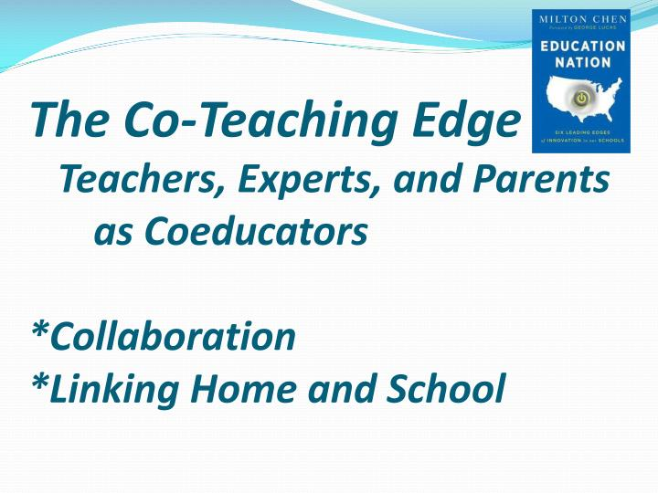 The Co-Teaching Edge
