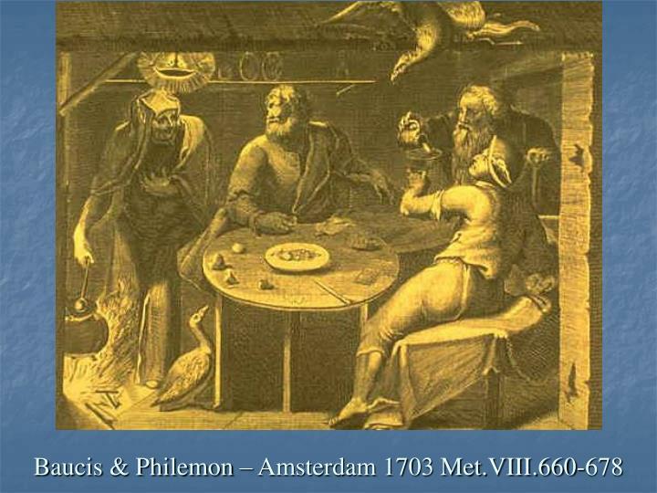 Baucis & Philemon – Amsterdam 1703 Met.VIII.660-678