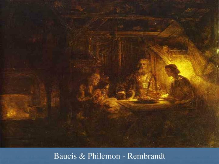 Baucis & Philemon - Rembrandt