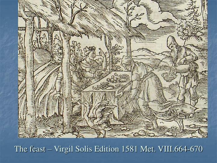 The feast – Virgil Solis Edition 1581 Met. VIII.664-670