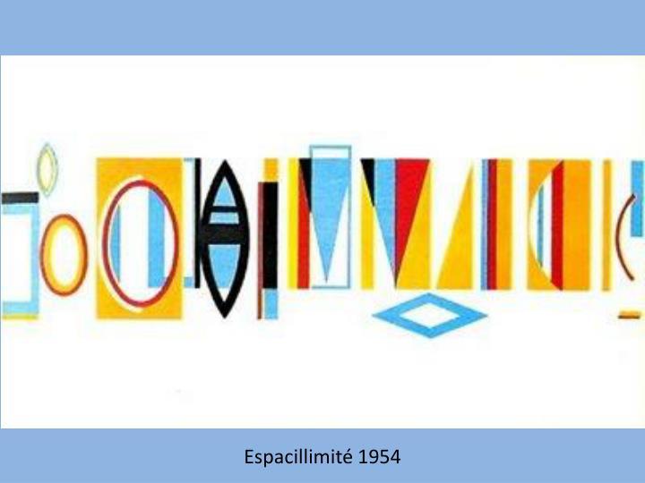 Espacillimité 1954