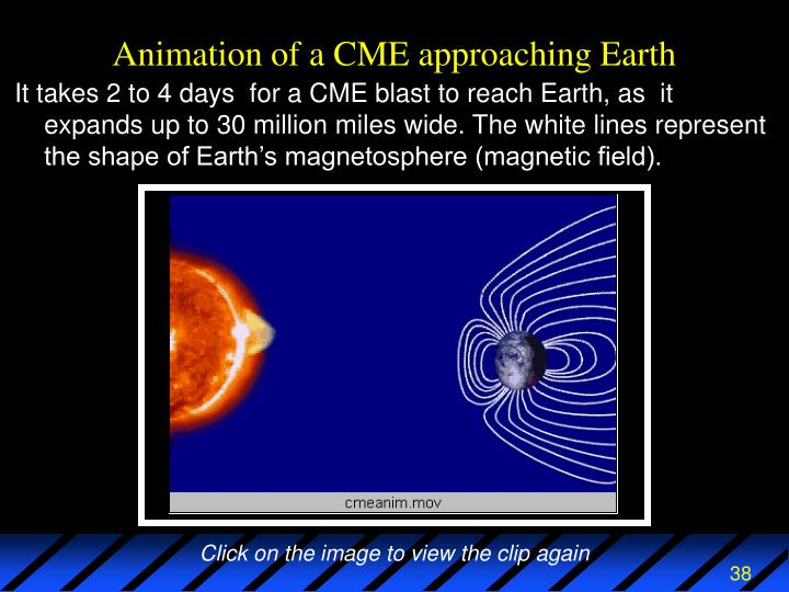 Animation of a CME approaching Earth