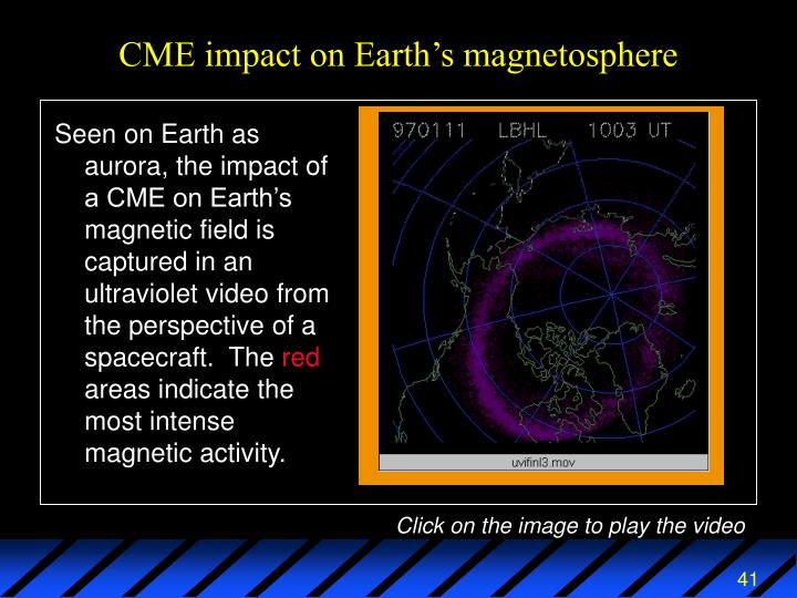 CME impact on Earth's magnetosphere