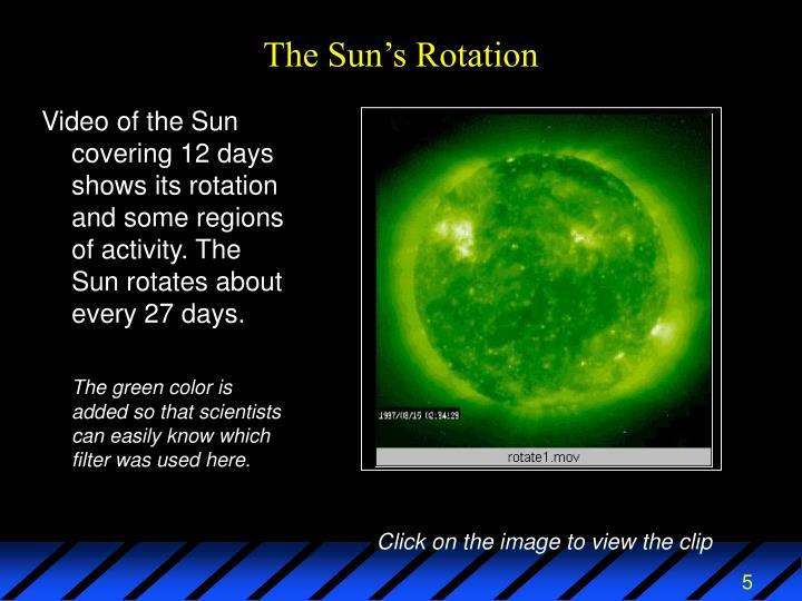 The Sun's Rotation