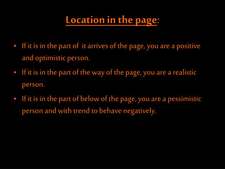Location in the page