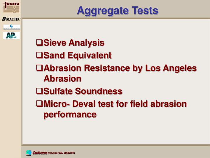 Aggregate Tests