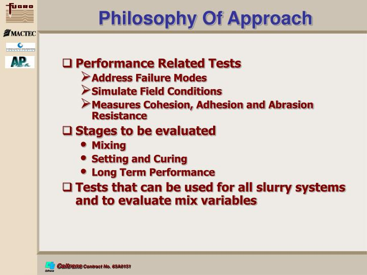 Philosophy Of Approach