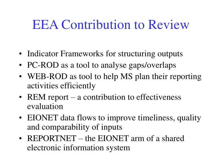EEA Contribution to Review