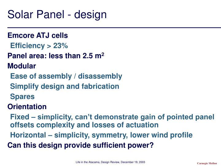 Solar Panel - design