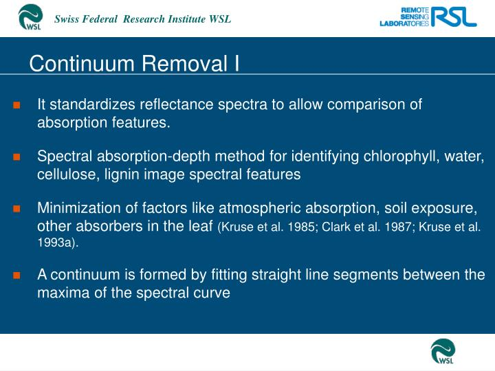 Continuum Removal I