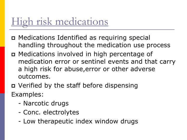 High risk medications