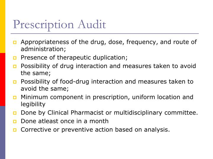 Prescription Audit