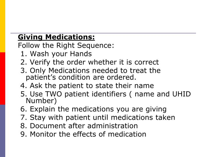 Giving Medications: