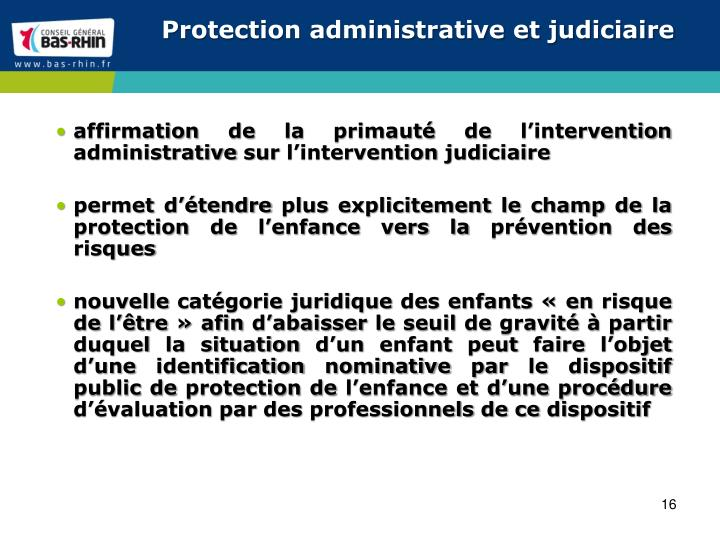 Protection administrative et judiciaire